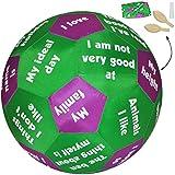 alles-meine.de GmbH XL - Lernspielball -  Erzählball - Geschichten & Kennen Lernen - Englisch  - Ø 40 cm - Lernspiel Ball - Lernen & Üben & Kennenlernen - Lernball - Kinder / E..