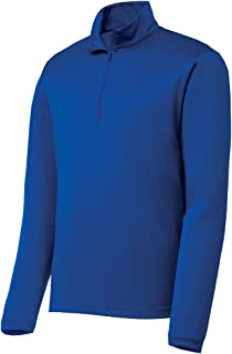 DRIEQUIP Mens Lightweight Moisture Wicking 1/4-Zip Pullover Sizes XS-4XL