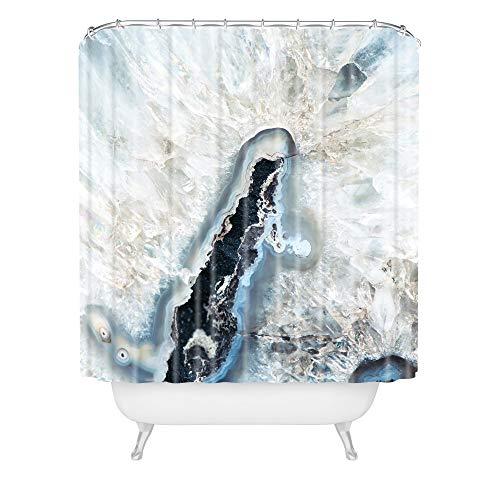 Deny Designs Bree Madden Ice Crystals Duschvorhang, 182,9 x 175,9 cm, Blau