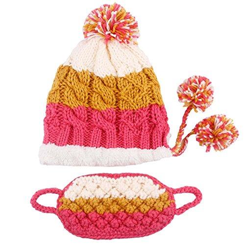 Blancho Bedding Sombrero de Tejer Gorra de esquí Monopatín Sombrero de Invierno Invierno cálido Sombrero Gorros con máscara