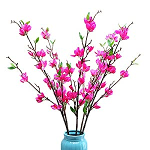 LSFYYDS Artificial Winter Jasmine,4 Fork Long Artificial Flower Winter Jasmine Folk Pip Berry Plant Paper Orchid DIY Craft for Wedding Home Office Party Hotel Table Vase(37.4in)