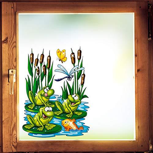 alles-meine.de GmbH Glitzer - Fenstersticker _ Motivwahl _ Frösche & Fische im Wasser - statisch haftend - selbstklebend + wiederverwendbar - Stück Sticker Fensterbilder Aufklebe..