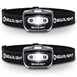 GearLight LED Headlamp Flashlight S500 [2 PACK] - Running, Camping, and Outdoor Headlamps - Best Head Lamp...