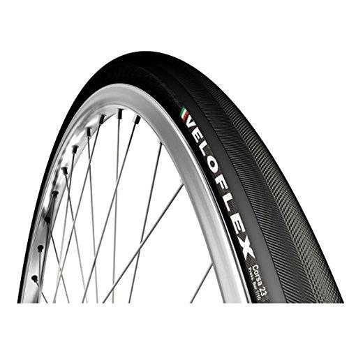 VeloFlex Corsa Pneu de vélo Souple Noir 700 x 23 C (23-622)