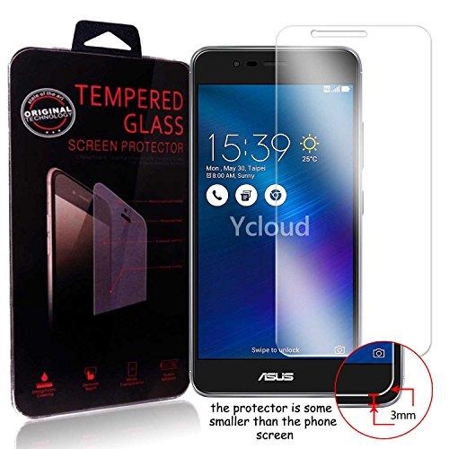 Ycloud Panzerglas Folie Schutzfolie Bildschirmschutzfolie für Asus ZenFone 3 Max (5.2 Zoll) ZC520TL Screen Protector mit Festigkeitgrad 9H, 0,26mm Ultra-Dünn, Abger&ete Kanten