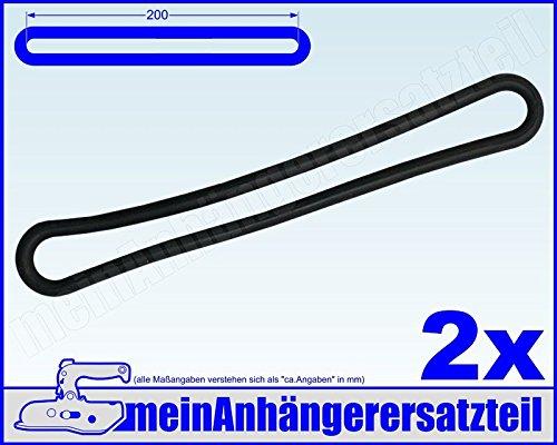 2x Gummi Spannring Gummiband für Pkw Anhänger Planen Anhängerplane 200mm schwarz