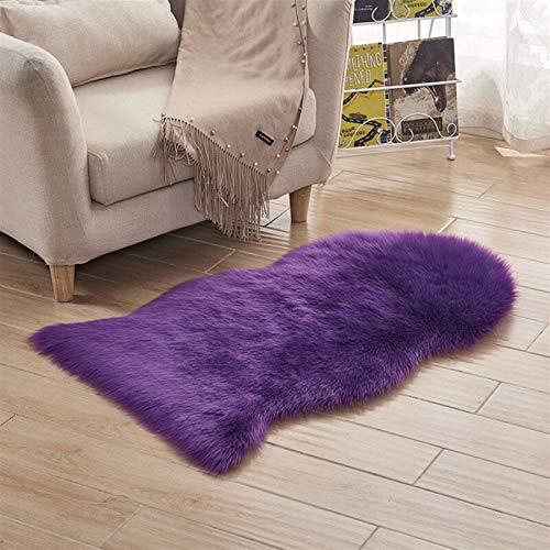 WSZMD Lana Larga Blanca Hairy Artificial Fuzzy Decoración For Sala Estar Dormitorio...