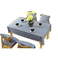 GFFTYX テーブルクロス テーブルクロス-モダンなミニマリストのコットンテーブルクロスは、長方形のテーブルクロス、マルチサイズの選択です ダイニングテーブルカバーティーテーブルクロス (Color : #01, Size : 90*90cm)