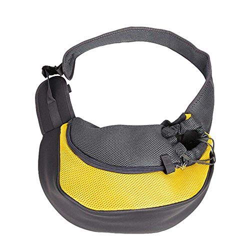 mxjxj Pet Hands-Free Sling Carrier Puppy Backpack Travel Tote Shoulder Bag Mesh Carry Pack Comfort Travel Tote Backpack 35x8.5x20cm Red (Color : Yellow, Size : 35x8.5x20cm)