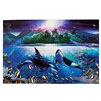 1000ピース ジグソーパズル,The Dramatic Night 木製パズル オモチャ 教育ゲーム 大人 減圧 Jigsaw Puzzle 子供 パズル 脳開発 知育玩具 人気 贈り物