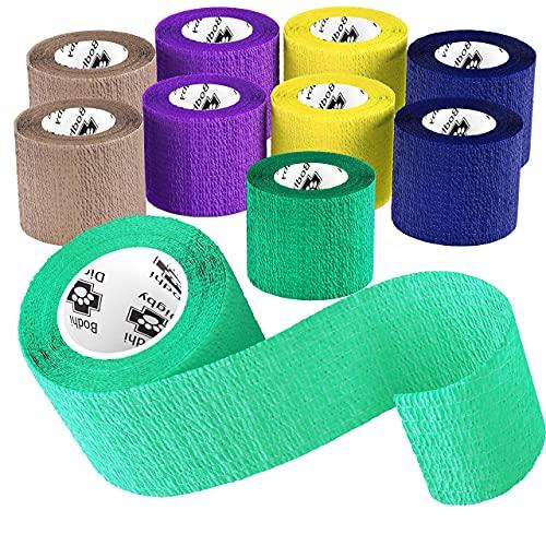 Bodhi & Digby Selbstklebender Verband - Elastische Binde 10Rollen, 5cm X 4,5m In 10Farben. Kann als Human-, Hunde- oder Bandagen Pferd verwendet werden