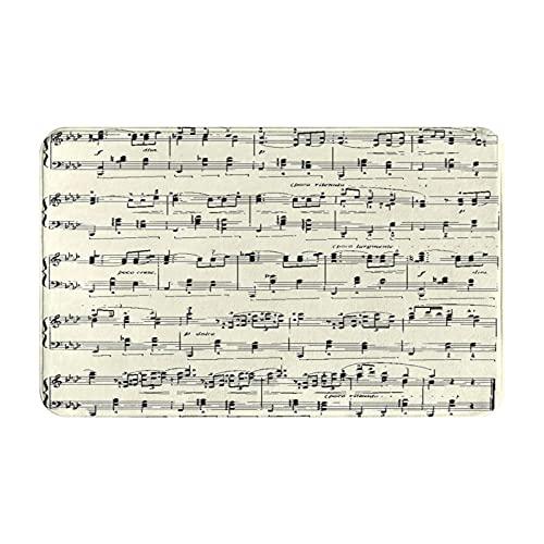 Qtchenglj Alfombras de baño Antideslizantes,Musician Aria Sheet Music Stave Concerto Educatiterpretation Key,Alfombra de baño de Felpa Lavable Extra Suave Alfombras de baño de Ducha