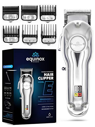 Equinox Professional Electric Hair Clipper, Rechargeable Trimmer for Men, Cordless Hair Clippers,...
