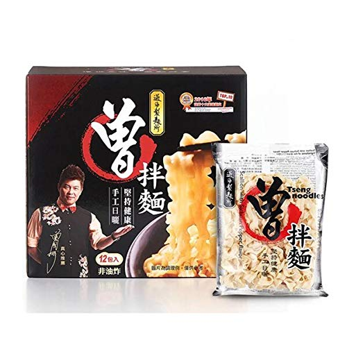 Tseng Noodles - Scallion with Sichan Pepper Flavor (49.2 oz / 12 Packs) – Handmade, Sun Dried, Non-Fried