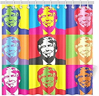 WUTMVING Donald Trump Politician America Donald Election Polyester Fabric Shower Curtain Bathroom Sets Home Decor 72 X 72 Inches