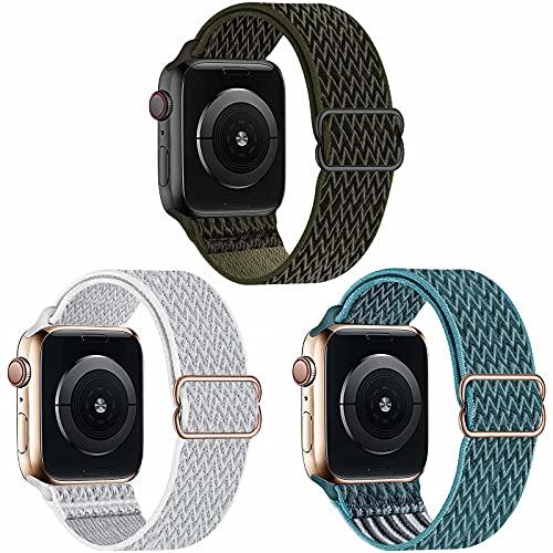 Fengyiyuda 3 Pack Cinturino Compatibile con Apple Watch ,Cinturino di Ricambio Lo Sportivo in Nylon Compatibile con IWatch SE Serie 6 5 4 3 2 1