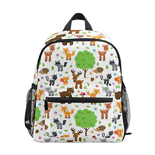 Mochila escolar para niñas animales de África árbol ciervos niños mochila escolar mochila libro
