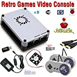 Raspberry Pi 3 based retro games emulation system retropie - 32GB edition with 2x snes type controllers and...