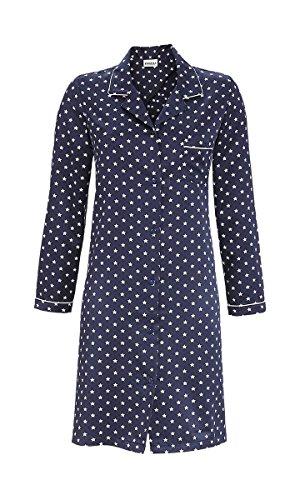 Ringella Damen-Nachthemd Satin Marine/weiß Größe 42