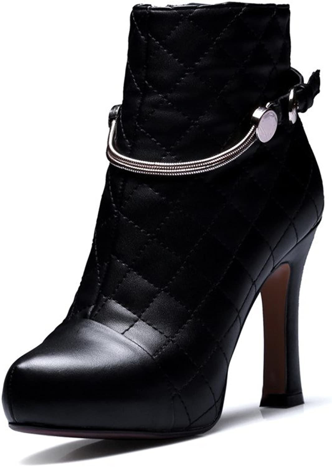 Nine Seven Women's Closed Round Toe High Heel Ankle Bootie - Handmade Side Zipper Gorgeous Fashion Boots