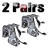4Pcs PUBG Trigger Mobile Game Controller Cell Phone Game Triggers Gamepad Sensitive Shoot and Aim Buttons Shooter Handgrip for Joystick Fire Button - 2 Pair(L1R1)