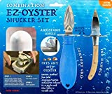 The EZ-Oyster Opener Shucking Tool with Variable angle design, Compatible for all Various sizes of oysters, Made from Solid Aluminum. Aluminum Color with Combination Kit Pack.