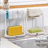 Gaddrt Estante de almacenamiento para utensilios de cocina para baño, 19,3 x 16,8 x 7 cm (B)