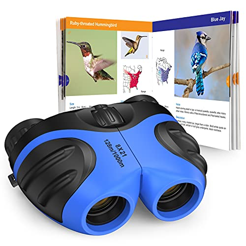 Dreamingbox Toys for 3 -12 Year Old Boys, Kids Binoculars Gift Package Shockproof 8X21 Compact Waterproof Binoculars for Kids Bird Watching Hiking Camping Festival Gift for 4 Year Old Boys (Blue)