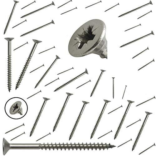 Vis INOX A2 Bois Cruciforme (Lot x500) GAMME PRO 4x25 4x30 4x35 4x40 4x45 ((Lot x500) 4x45mm)