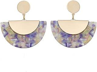 Earring Colorful Dangle Drop for Women Girls Geometric Pendant