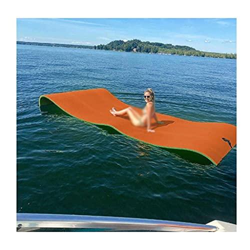 gujiu Estera de Agua Flotante Isla Flotante para la Piscina Lago Océano Barco, Almohadilla de Agua Flotante Lirio Gigante para Actividades de Agua y relajación (9x3 FT)
