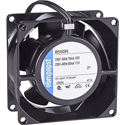 ebm-papst 8550 N Computer Kühlkomponente Universal Ventilator - Computer Kühlkomponenten (Universal, Ventilator, 2700 RPM, 30 dB, 50 m³/h, Schwarz)