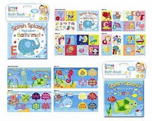 Livres de bain pour bébé avec revêtement en plastique amusant jouets éducatifs pour les tout-petits et les enfants