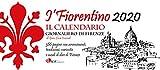 I'Fiorentino, calendario giornaliero a fogli staccabili, da muro e con supporto da tavolo