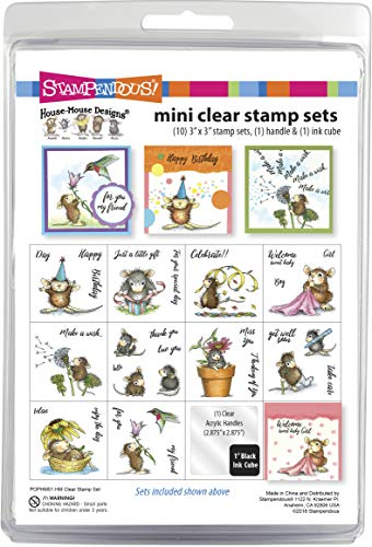Stampendous House Mouse Stamp Mini Clear Set