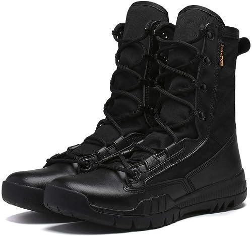QIKAI Bottes De De Combat Du Désert Bottes de combat pour fans de l'armée printemps et en été bottes ultra-légères pour hommes forces spéciales bottes bottes tactiques bottes  économisez jusqu'à 30-50%
