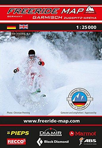 Freeride Map Garmisch / Zugspitz-Arena: Maßstab 1:25 000