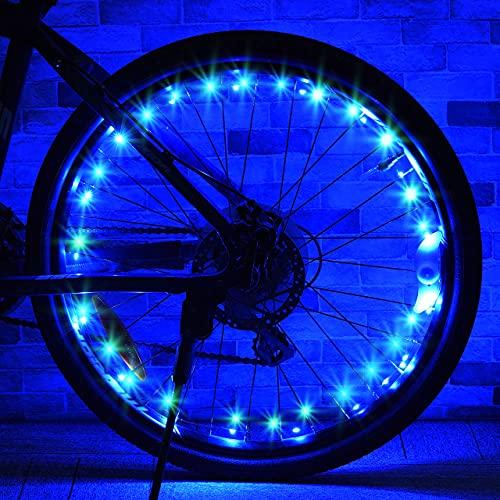 Dreamingbox Kid Bike Lights, 5-15 Year Old Boy Girl Gifts for 8 9 10 Year Olds Girl Boy Toys Age 6 7 8 9 10 Bike Lights Led Spoke Bicycle Lights Front And Rear Led Strips Lights Night Light Blue