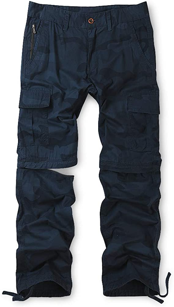 Men's Convertible Pants,Zip Off Casual Cargo Military Army Tactical Combat Work Trousers
