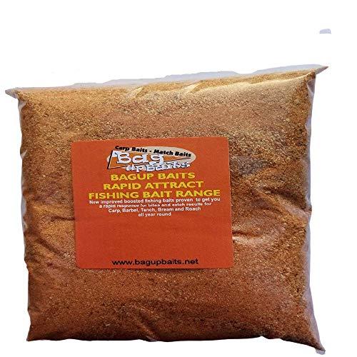Bag Up Baits Boosted Chocolate Orange Winter Groundbait & Paste Mix Fantastic Sweet Ground bait for Carp - Bream- Tench ''
