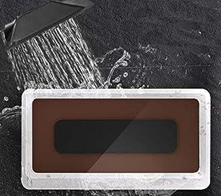 お風呂スマホ防水ケース 浴室 スマホカバー タッチ操作 高性能ケース 壁掛け式 ホルダー 強力粘性 防曇り お風呂やキッチン トイレでの使用が (white)