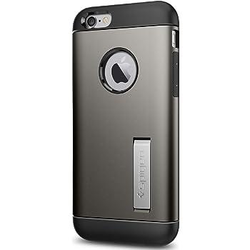 Spigen Coque iPhone 6 / 6s, [Slim Armor] Anti-Choc Coussin d'air Resistant [Gunmetal] Support Kickstand, Coque Etui Housse pour Apple iPhone 6 / iPhone 6s - Gunmetal (SGP11605)