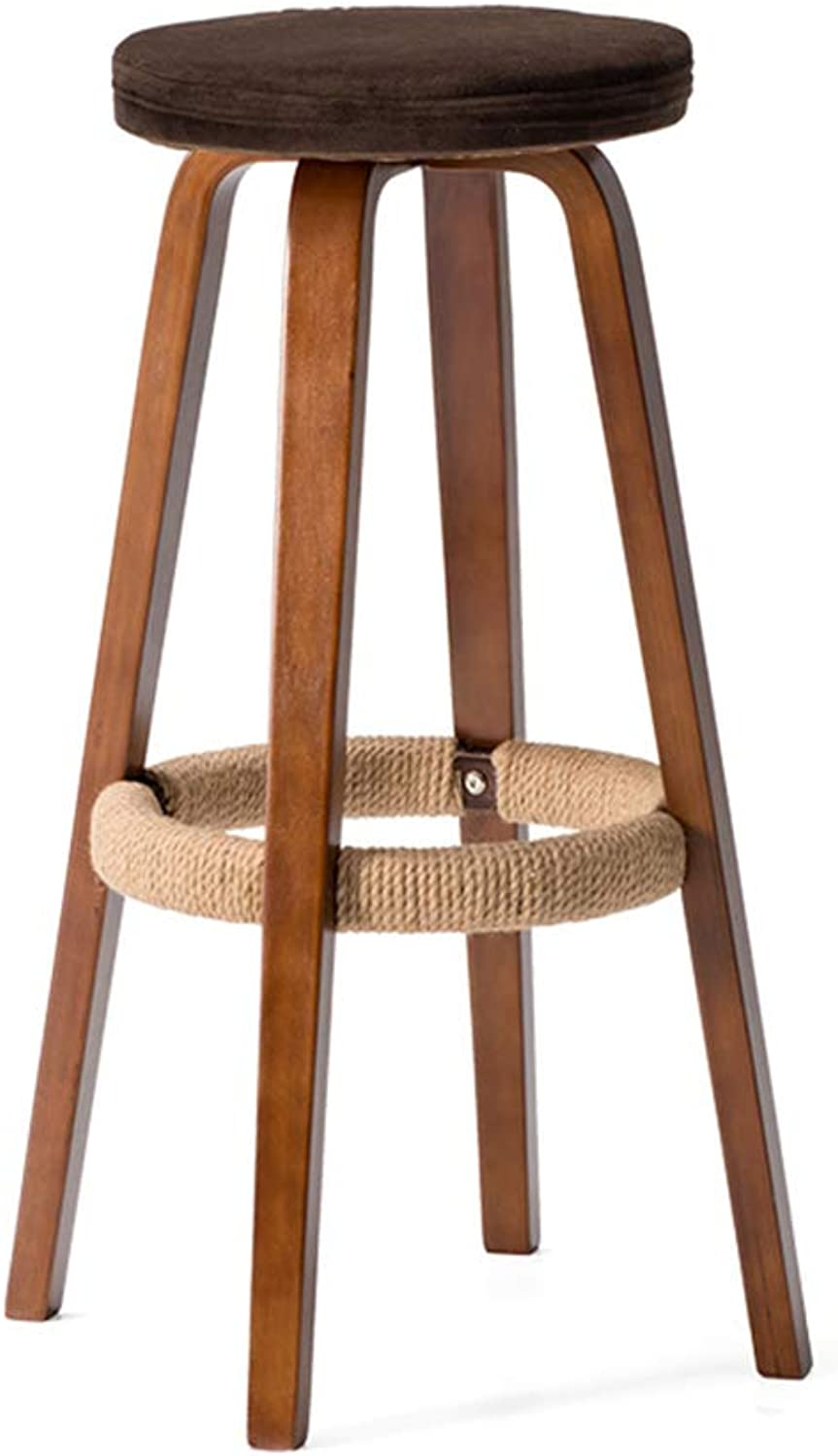 Bar Chairs Breakfast High Stools Modern Wooden High Stools Simple Round Bar Stools Suitable for Counter Kitchen Home Cafe Patio