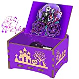 Halloween Party Gifts for Women/Kids/Girls/Boys/Toddler/Adults - The Nightmare Before Christmas Music Box - Wooden Clockwork Vintage Musical Box for Halloween Party Favor - Plays This is Halloween