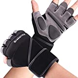 Grebarley Workout Gloves,Gym Gloves,Training Gloves with Wrist Support for Fitness Exercise Weight Lifting Gym Crossfit,Full Palm Protection & Extra Grip,Hanging,Pull ups for Men & Women(XL)
