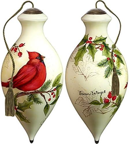 2012 Ne/' Qwa Art Cardinal Stocking Susan Wingest Artist Tree Ornament