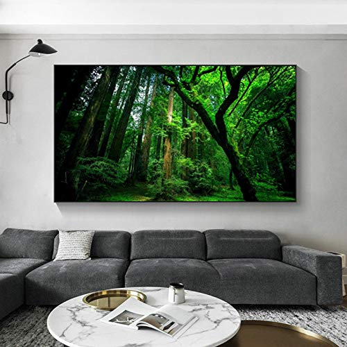 Dass Modern Canvas Painting Forest Trees Natural Landscape Posters And Print Murals, Art Living Room Decoration Canvas Paintings Paintings No Frame (Size : 40x70cm Unframe)