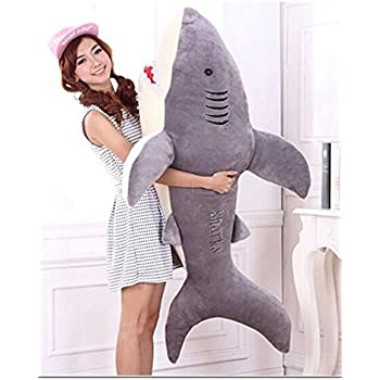 林新 サメ ぬいぐるみ 特大 130cm サメ抱き枕/鮫ぬいぐるみ/子供プレゼント/お祝い/ふわふわぬいぐるみ サメ (画像通り)