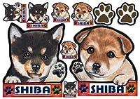 犬ステッカー 柴犬6 シール