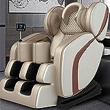 Massage Chair, Full Body 3D Zero Gravity Shiatsu Massage Recliner with Bluetooth Heat Foot Roller, Space Saver (Golden)